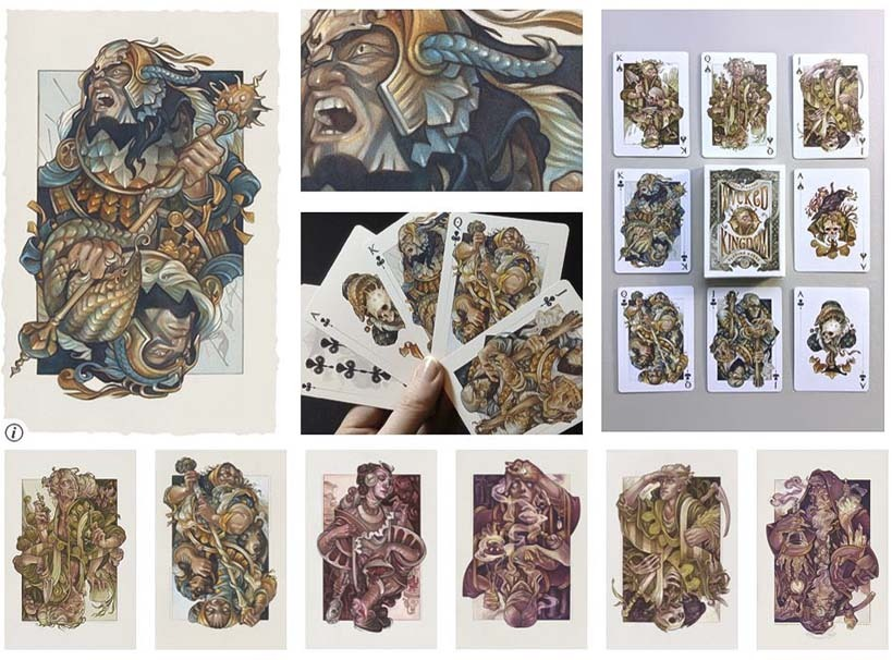Wicked Kingdom playing cards by Wylie Beckert